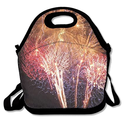 006a009535 Image Unavailable. Image not available for. Color  Ltgyth Premium Lunch Bag  Firework Shot Tote Handbag ...