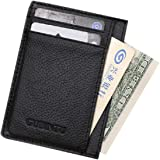 Malloom Ultra-thin Mini Leather Credit Card ID Holder Money Clip Wallet