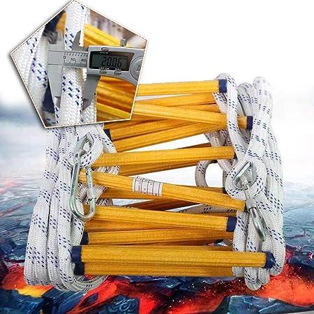 MAHFEI Escalera De Cuerda, Escaleras De Evacuación Resina Escaleras De Evacuación Escalera De Incendios Retardante De Llama con Ganchos Implementación Rápida Reutilizable for Adultos Y Niños: Amazon.es: Hogar