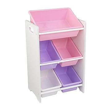 Lagerschrank mit 5 Kisten \'Sort it und Store it\' (weiß) - KidKraft ...