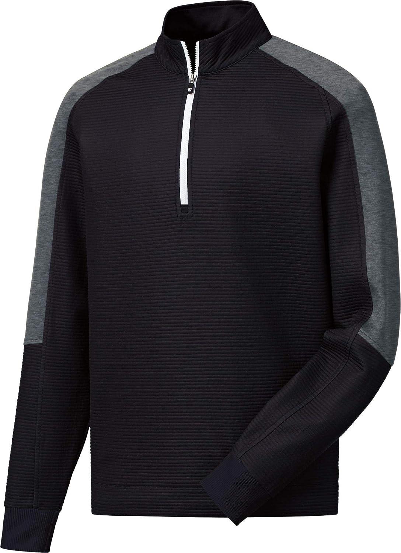[フットジョイ] メンズ シャツ FootJoy Men's Ribbed Mid-Layer Golf Zip [並行輸入品] M  B07P4DTMMS
