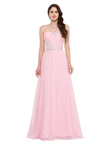 GRACE KARIN Women Long Evening Wedding Dress Chiffon Ball Gowns Prom ...