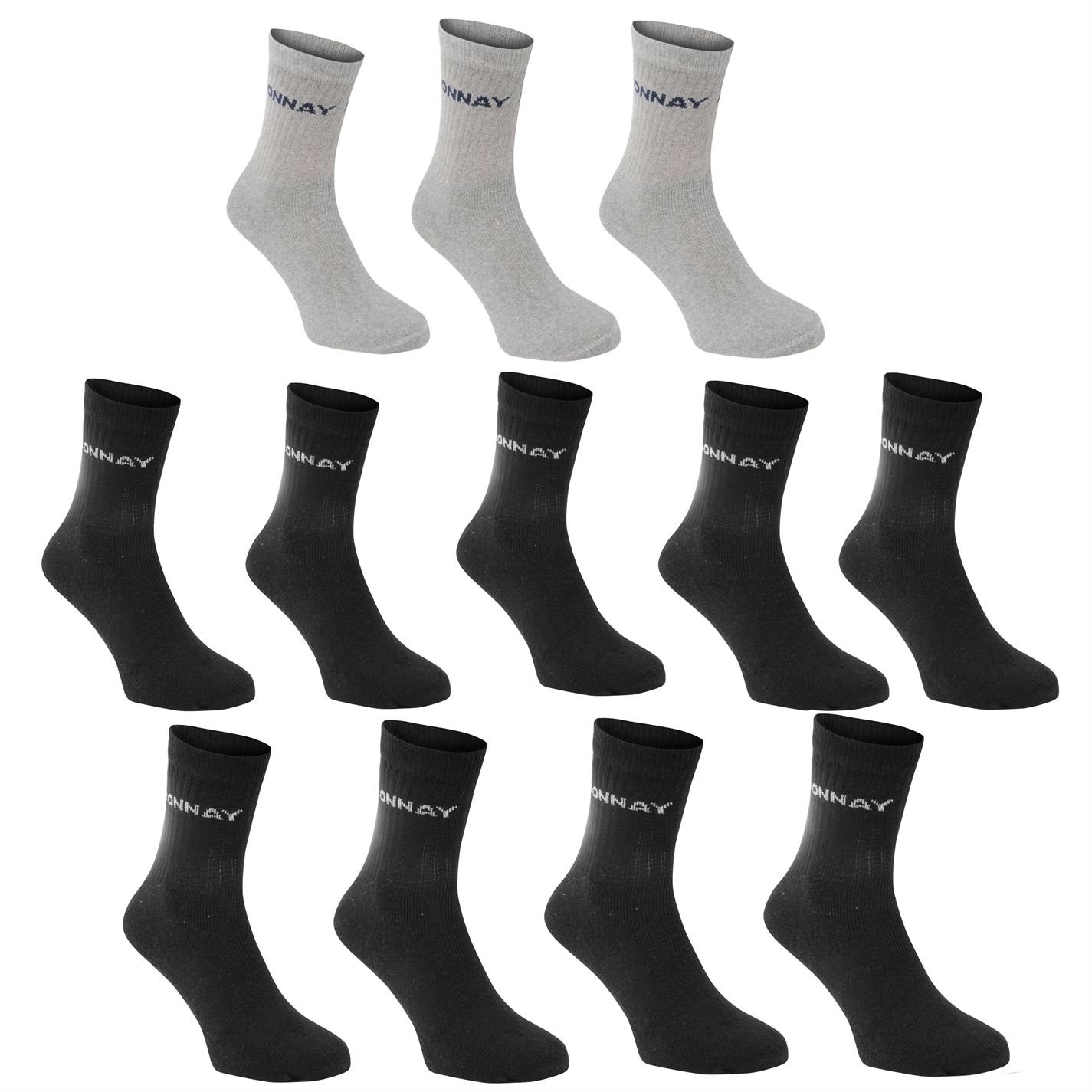 Donnay Kids Crew Socks 12 Pack