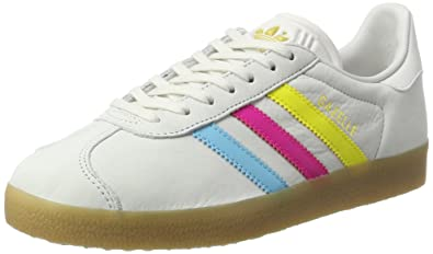 adidas Gazelle, Baskets Basses Homme, Blanc (Vintage White/Bright Cyan/Shock