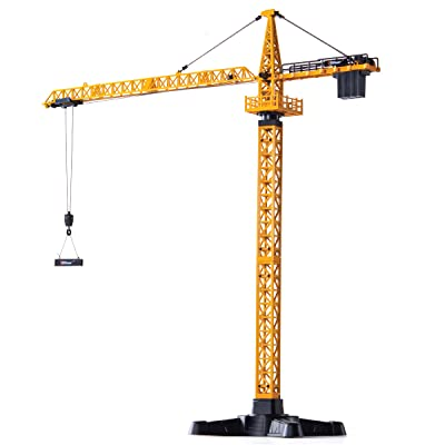 Top Race Metal Diecast Tower Crane Metal Construction Vehicles Model Toy for Kids and Adults 1:50 Scale TR-134D: Toys & Games