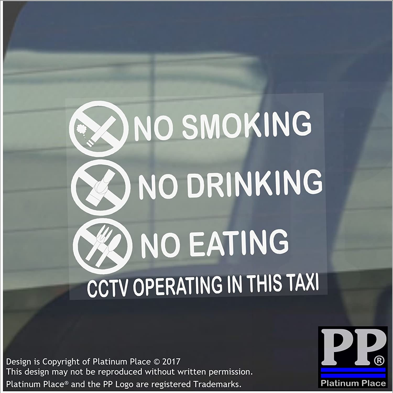 Ne pas fumer manger ou boire cctv opération autocollant fenêtre taxi autocollante