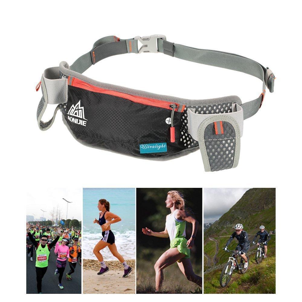 Aonijie Sport Waist Pack Running Hydration Belt Water Bag Blue Green Bottle Holder Triathlon Reflective Hip Men Women Two 170ml