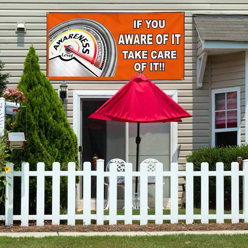 Multiple Sizes Available 8 Grommets Vinyl Banner Sign If You Aware of It Orange White Marketing Advertising Orange One Banner 44inx110in