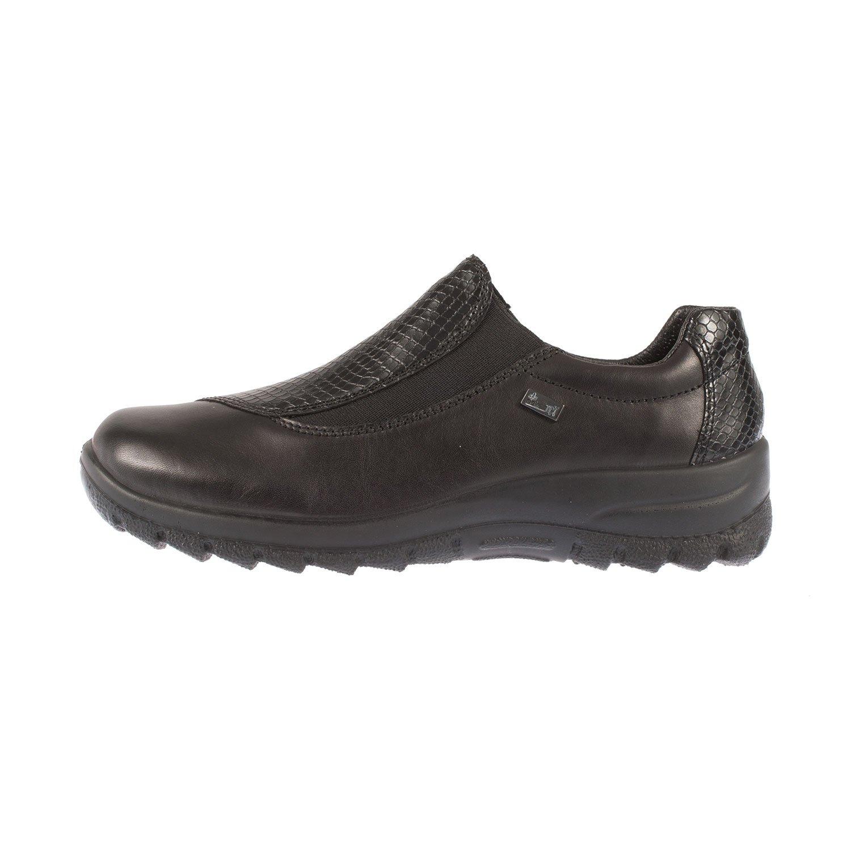 RIEKER Women's Leather Showerproof Slip On Shoe (L7170-00)