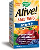 Nature's Way Alive!® Max3 Daily Men's Multivitamin, Food-Based Blends (1,130mg per serving) and Antioxidants, 90 Tablets