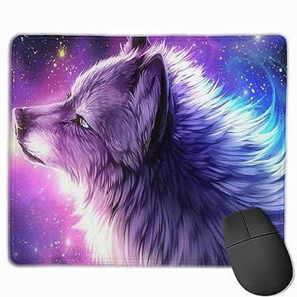 Amazon com : Purple Galaxy Wolf Dog Creative Painting Non-Slip