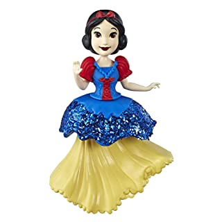 Disney Princess Snow White Collectible Doll with Glittery Blue & Yellow One-Clip Dress, Royal Clips Fashion Toy