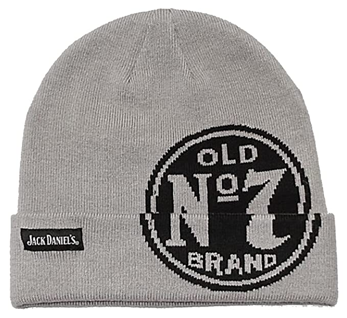 66eef0e0ae6 Image Unavailable. Image not available for. Color  Jack Daniels Old No. 7  Logo Beanie Hat Grey