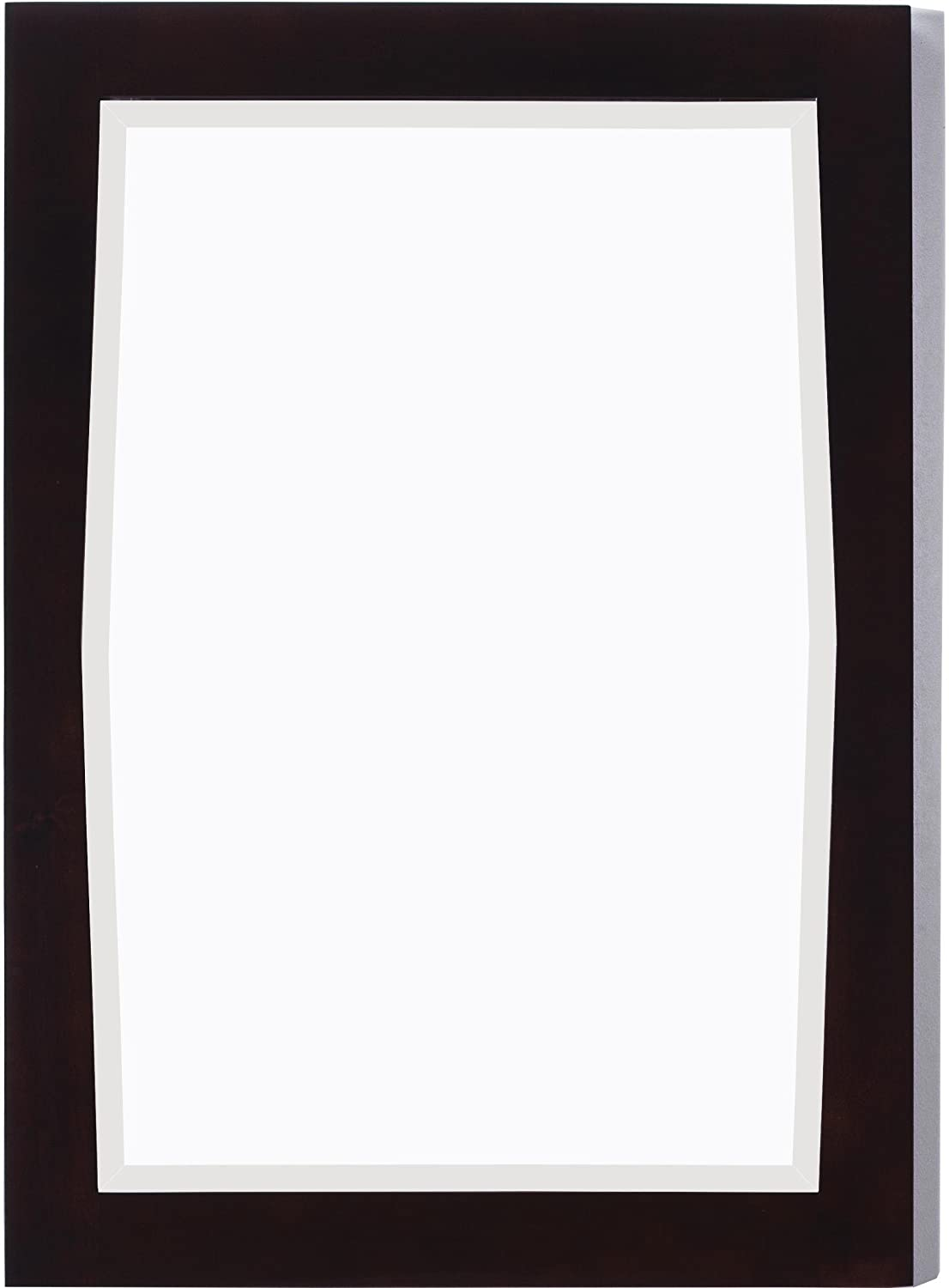 24-in. W x 34-in. H Transitional Birch Wood-Veneer Wood Mirror In Antique Walnut IMG Imports AI-400