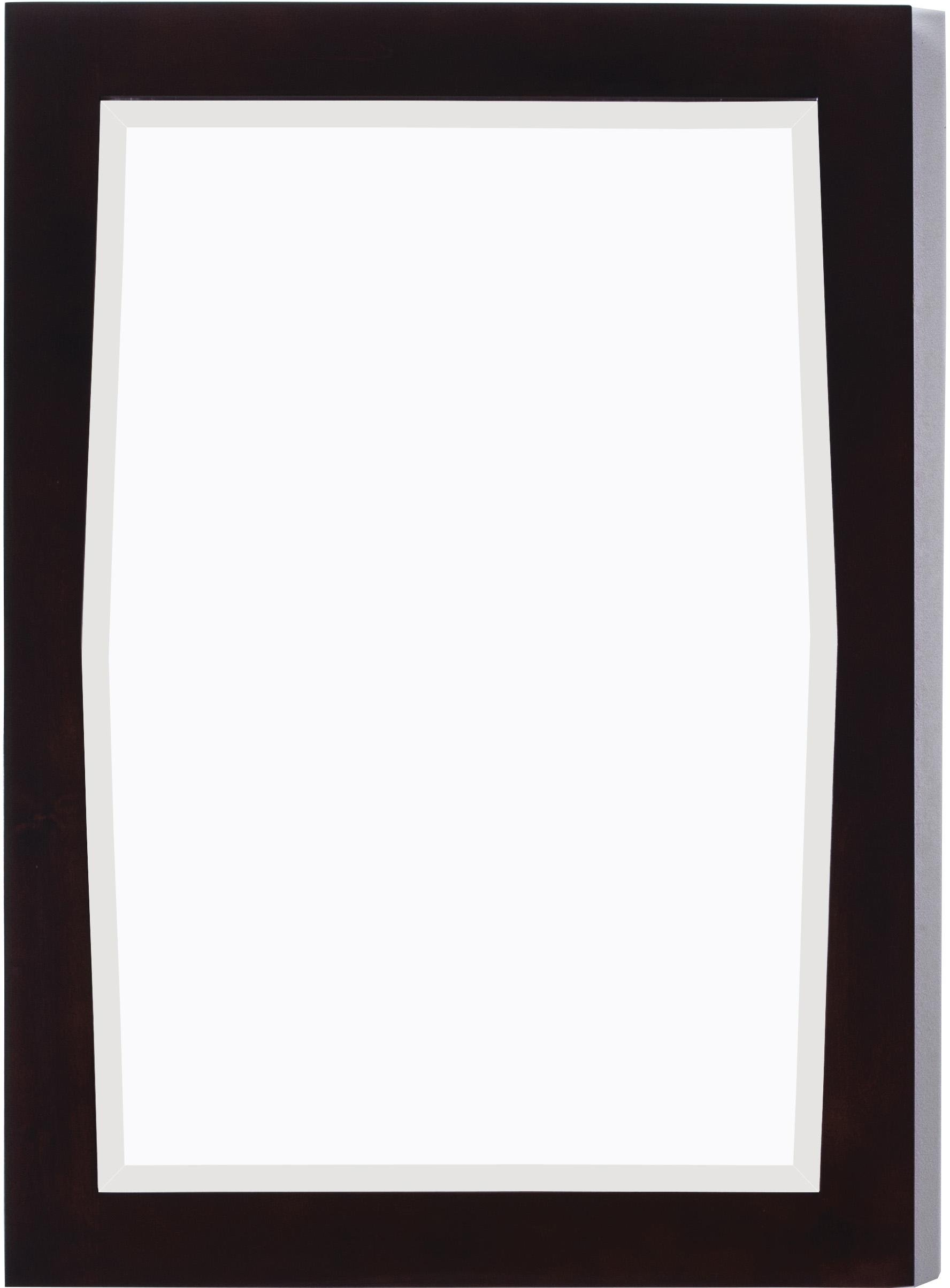 24-in. W x 34-in. H Transitional Birch Wood-Veneer Wood Mirror In Antique Walnut