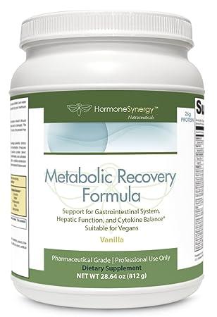 Metabolic Recovery Formula Vanilla Gastrointestinal, Hepatic and Intestinal Support* 26g Vegan Protein Non-GMO Pea Rice MeadowPure, Aminogen Quatrefolic