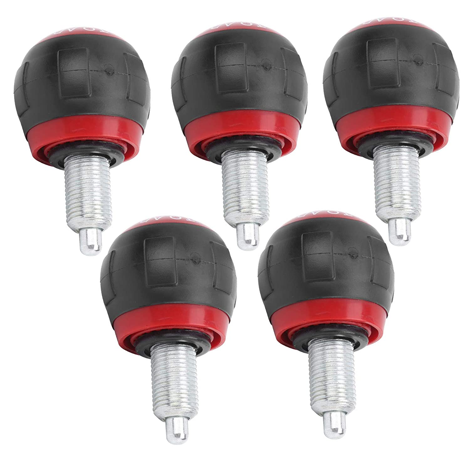 Black red Fitness Pop Pin 5pcs Save Effort Pull Pin Spring Knob Fitness Equipment for Bicycles Exercise Bikes Strength Equipment