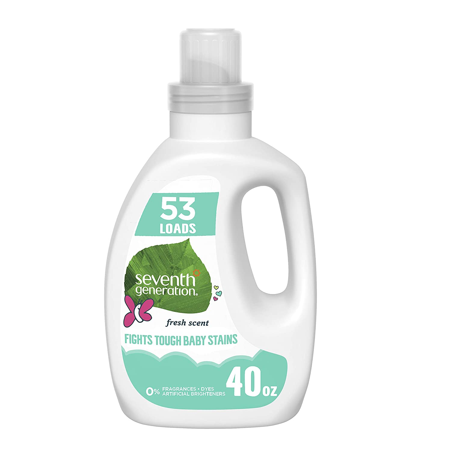Seventh Generation Baby Concentrated Laundry Detergent, Fresh Scent, 40 oz (53 Loads)