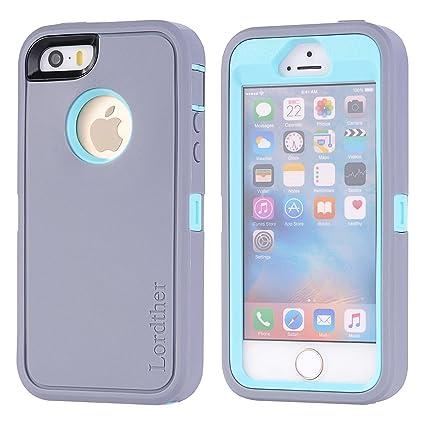 Amazon.com: Carcasa Lordther para iPhone SE (serie ShieldOn ...