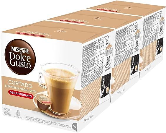Nescafé Dolce Gusto Espresso Cortado Descafeinado, Paquete de 3, 3 ...