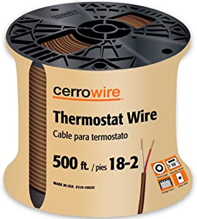 product image for CERRO 210-1002J2 500-Feet 18/2 Thermostat Brown Wire, 500-Foot, 18-Gauge, 2 Ground