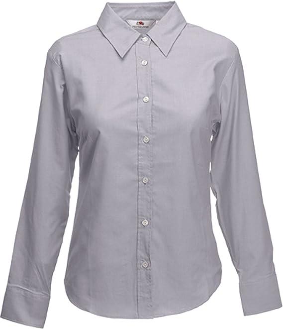 Fruit of the Loom Lady-Fit Camisa de Vestir para Mujer Blusa de Manga Larga Oxford 65002: Amazon.es: Ropa y accesorios