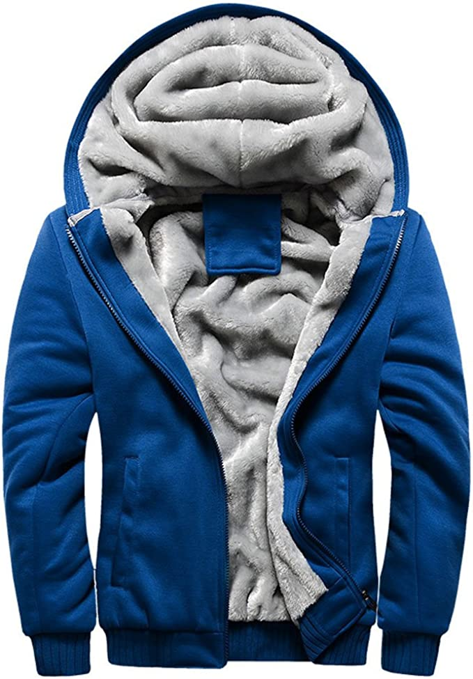 Details zu Herren Winter Warm Sweatjacke Fleece Jacke Hoodie Mantel Sweatshirt Kapuzenjacke