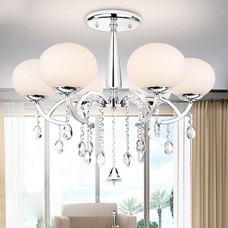 ALFROT® Modernen, eleganten 6 Licht Kronleuchter mit globalen Schatten, Schatten, Schatten, Kronleuchter , Simple Home Leuchte Decke … … 0f4db7
