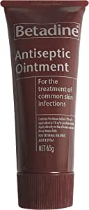 Betadine Antiseptic Ointment - Treatment of skin infections, minor cuts and abrasions - Helps prevent infection, 65g