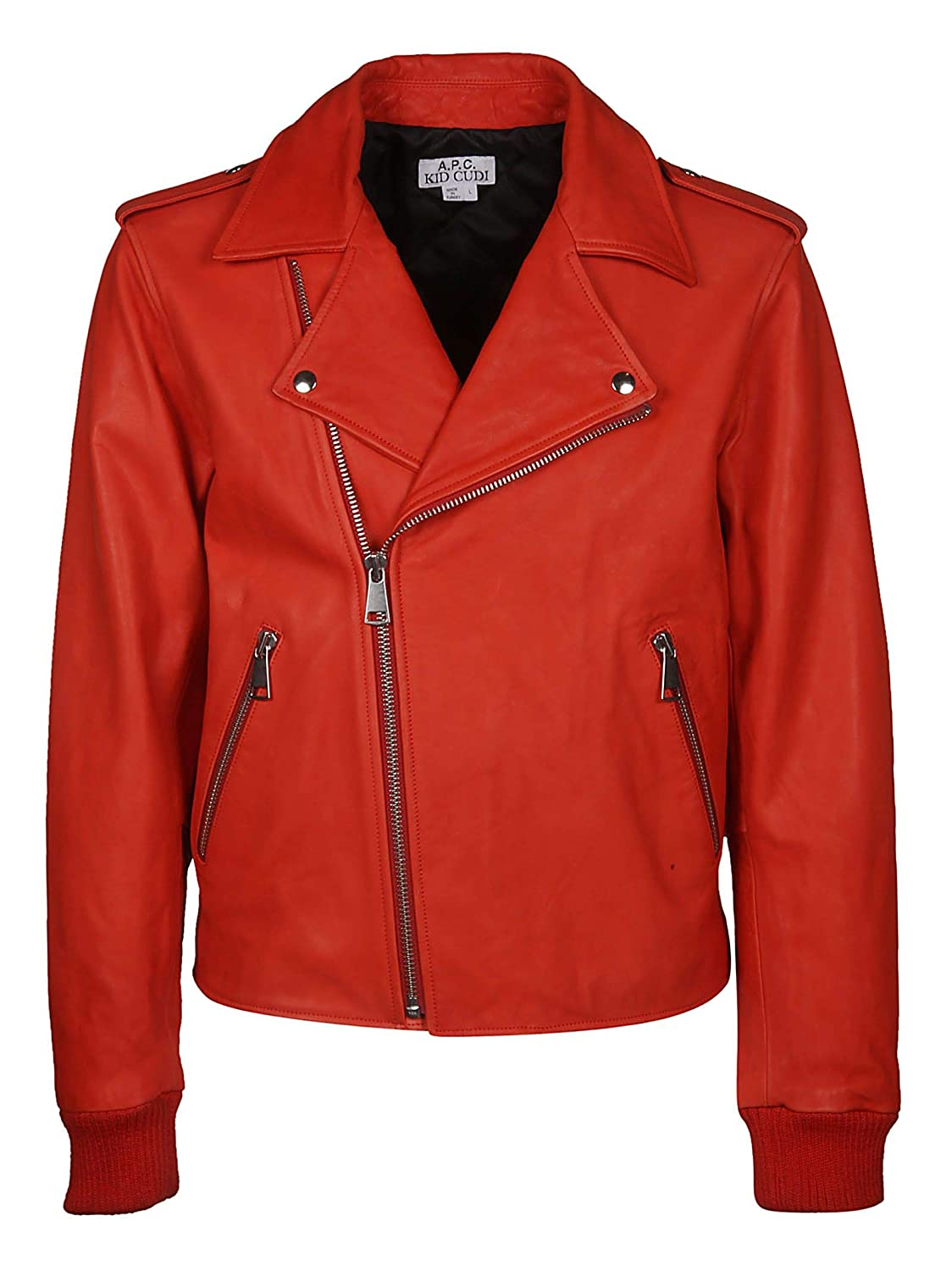 A.P.C. Men's PXBKXH02578GAAred Red Leather Outerwear Jacket