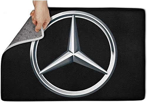 linchen Fashion Entry Door Mat Mercedes-Ben-Original-Logo-Mercedes-Benz- Carpet Bathroom Non-Slip Door Mats 31 x19