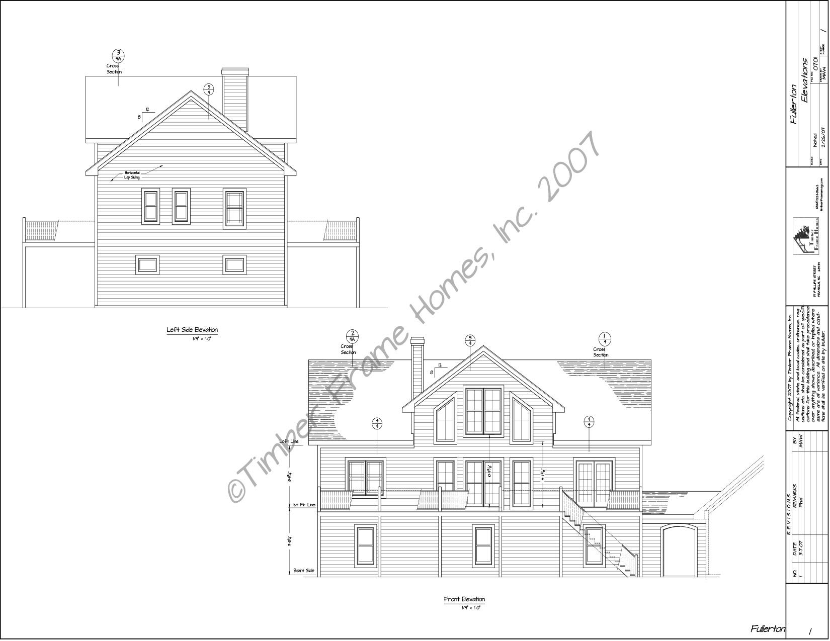 Home Plans - The Fullerton Timber Frame (DESIGN PROOF) by TimberStead