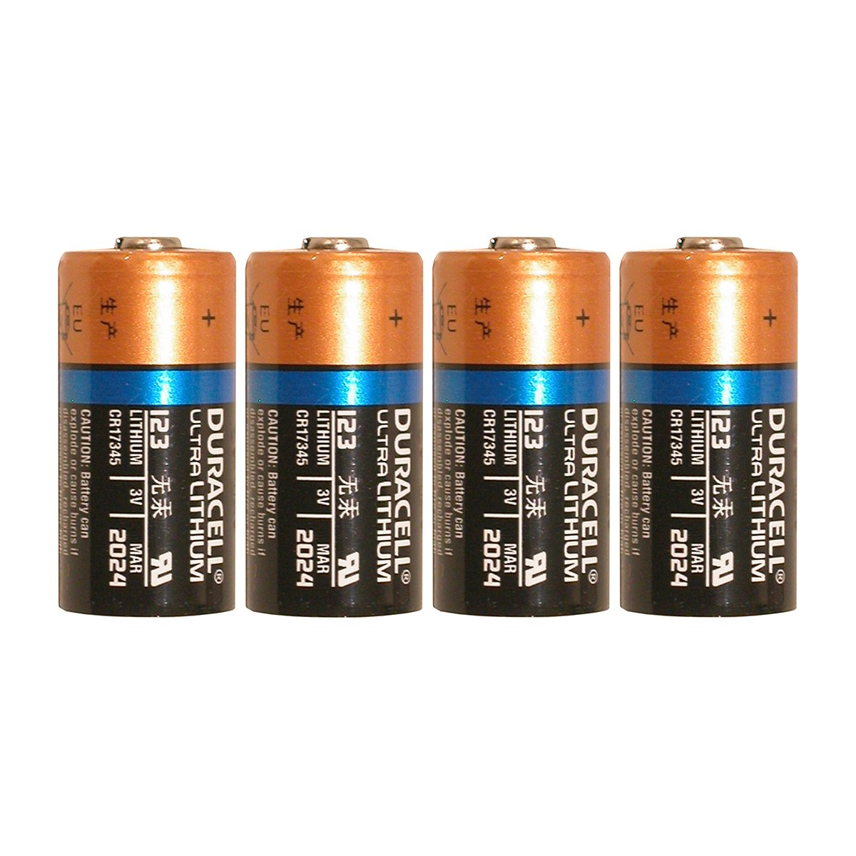 4 Count Duracell Ultra Lithium 3V Cr17345 Leak Resistant Long Lasting Batteries 2
