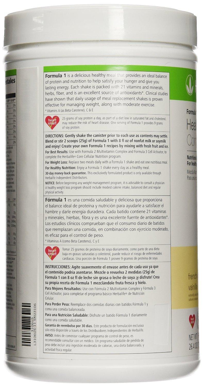 Amazon.com: Herbalife Formula 1 Shake Mix - French Vanilla (750g): Health & Personal Care