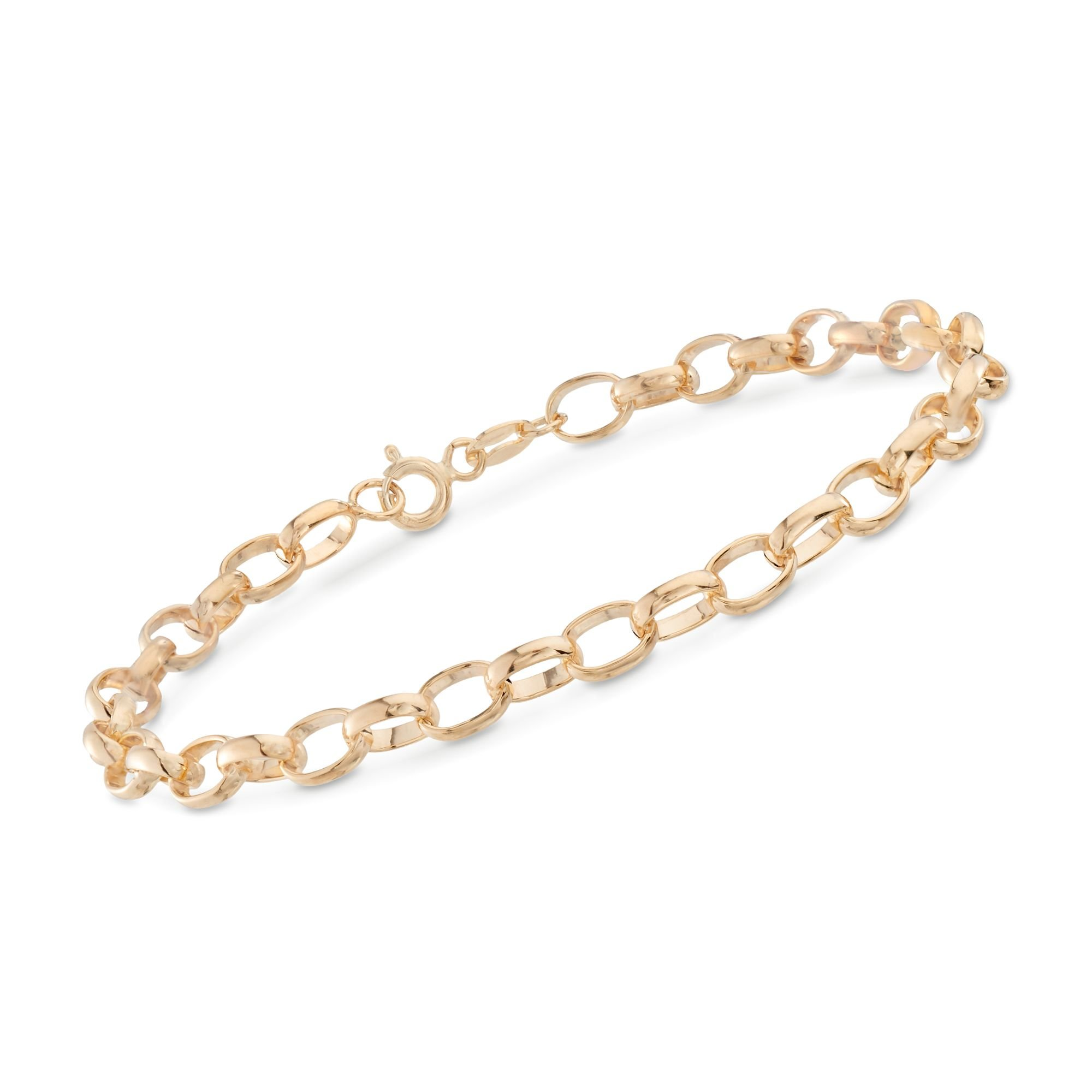 Ross-Simons Italian 4.5mm 14kt Yellow Gold Cable-Link Bracelet