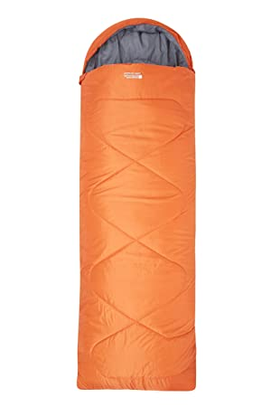 Mountain Warehouse Saco de Dormir Tipo Rectangular Summit 250 - Saco de Acampada con Aislamiento de