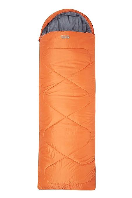 Mountain Warehouse Saco de Dormir Tipo Rectangular Summit 250 - Saco de Acampada con Aislamiento de