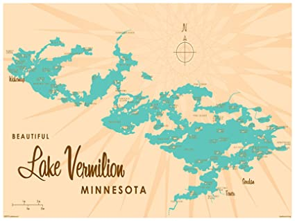 photograph relating to Printable Maps of Minnesota known as : Lake Vermilion Minnesota Map Common-Style and design Artwork