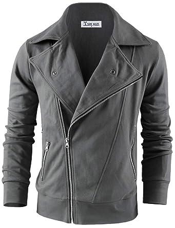 c18a462da TAM WARE Men's Fashion Asymmetrical Zip Up Jacket at Amazon Men's ...