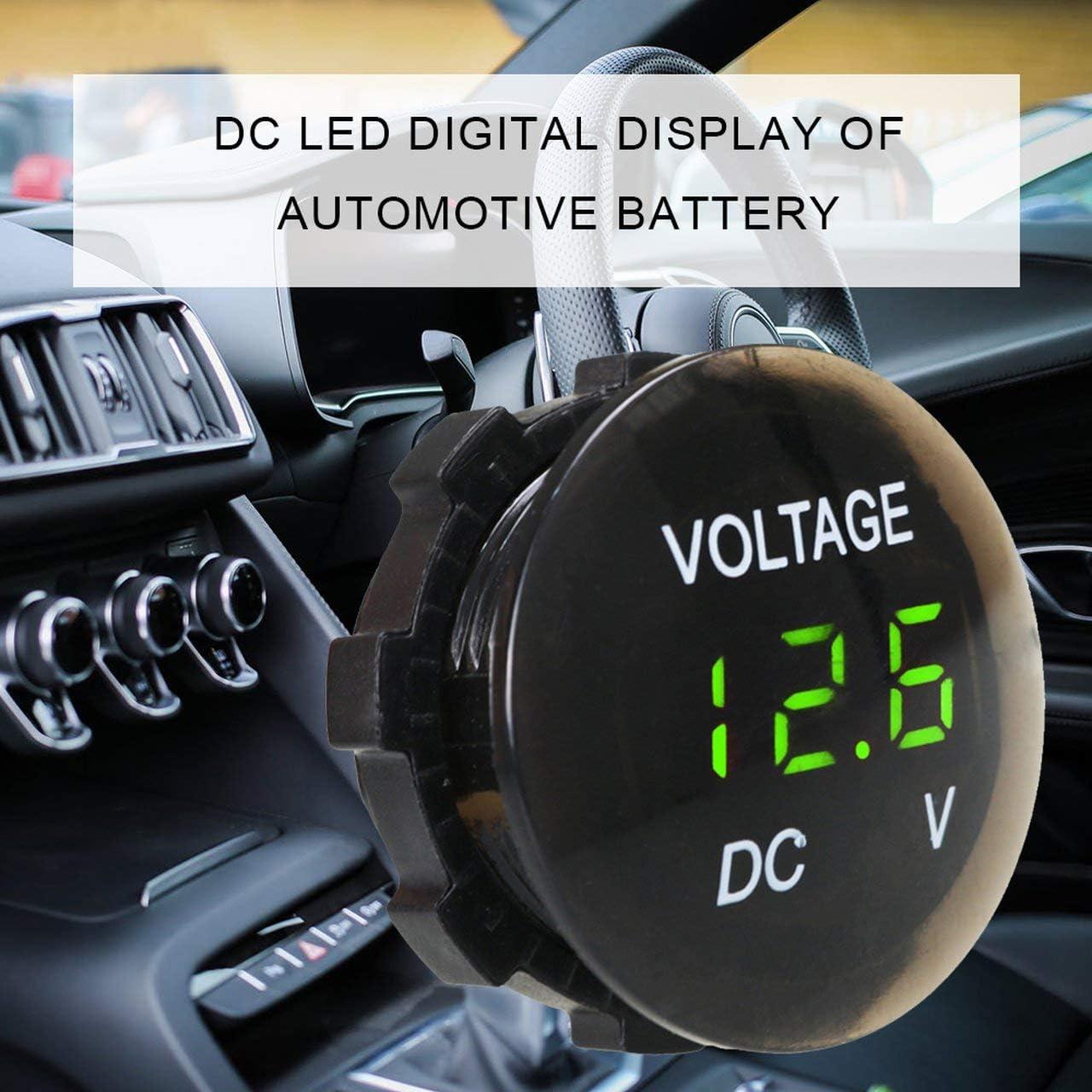 Blu Monitoraggio Facile per farti Conoscere Lo Stato della Batteria Batteria per Auto Voltmetro Dc LED Display Digitale Corto Voltmetro Liscio ITjasnyfall