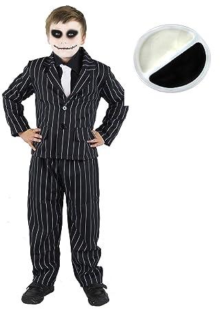 ILOVEFANCYDRESS Disfraz de traje de rayas y maquillaje ...