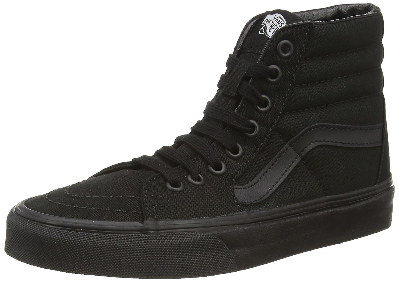 Vans Sk8-Hi Classic Suede/Canvas, Zapatillas Altas Unisex Adulto 46 EU Negro (Black/Black/Black)