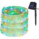 Yasolote 10M 100 LED Guirnalda de Luces Solares, Cadena de Luces Impermeables Lámpara de Manguera Iluminación Decorativa…