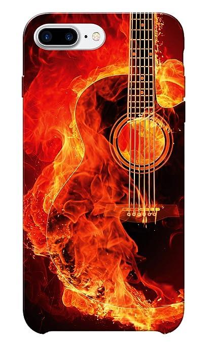 Caseria Burning Guitar Slim Fit Hard Case Cover for: Amazon