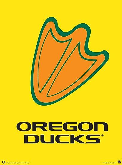 amazon com oregon ducks football poster duck print authentic team