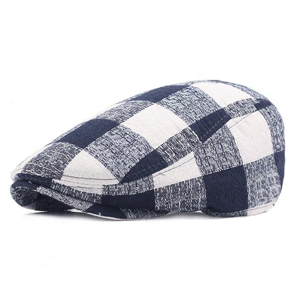 Gorra De Algodón Señora Tela Escocesa Boina Al Aire Libre Sombra Sombrero Caliente exUzXc