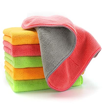 4645814a17 Amazon.com  Ultra-Thick Microfiber Cleaning Cloths