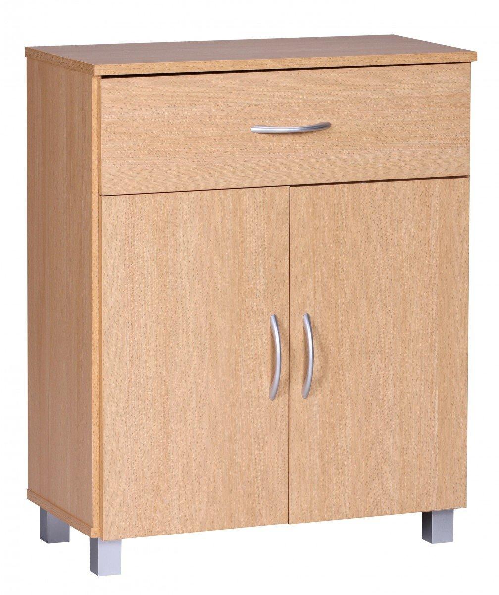 Fabelhaft Sideboard Buche Weiß Referenz Von Finebuy 1 Schublade 2 Türen 60 Cm