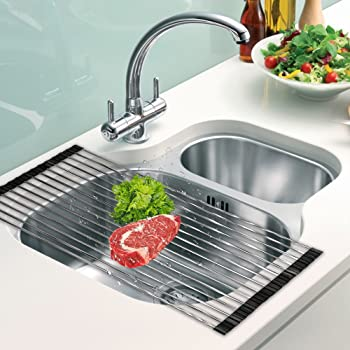 DDMY Over the Sink Roll-Up Dish Drying Rack