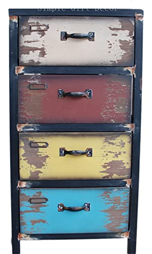Attraction Design Wood Antique 4-Drawer